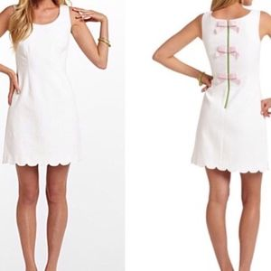 Lilly Pulitzer Nina Bow Back White Shift Dress